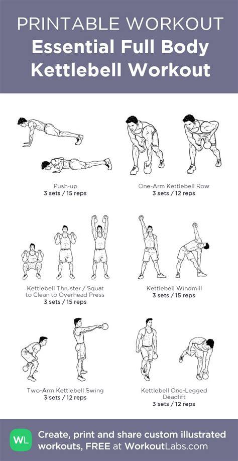 kettlebell workout pdf body exercises printable workouts workoutlabs essential kettle exercise routines fitness sheets bell kettlebells custom training cardio gym