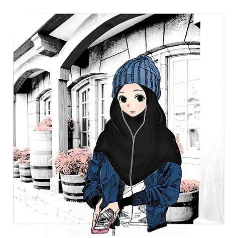 gambar keren anime hijab collection images