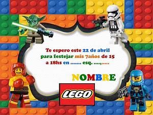 15 Tarjetitas Invitación Cumple Lego Batman Patrulla Canina $ 150,00 en Mercado Libre