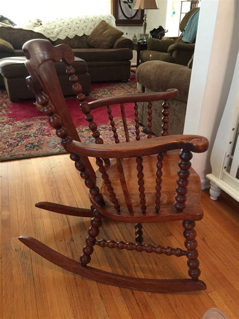 spool type rocking chair  antique furniture collection