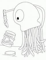 Coloring Peanut Butter Sheets Cartoon Template Coloringhome sketch template
