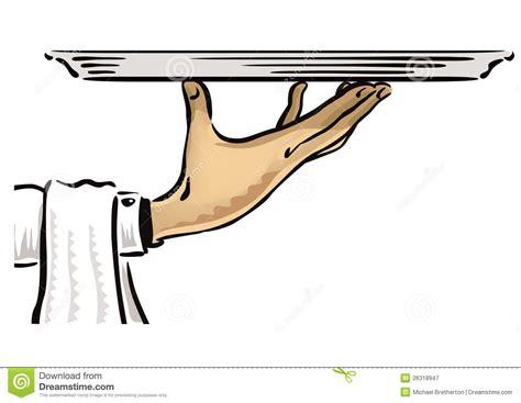 waiter  platter stock vector illustration  posh