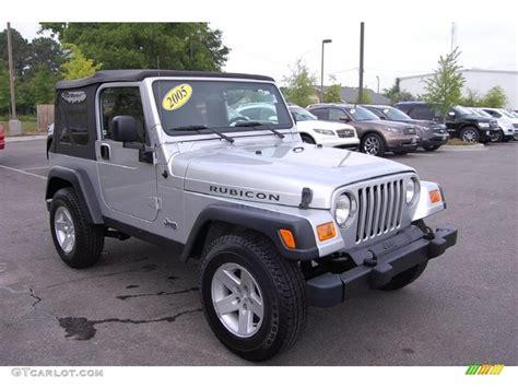 jeep rubicon silver 2005 bright silver metallic jeep wrangler rubicon 4x4