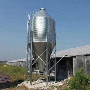 china galvanized steel feed silo for poultry farm livestock house storage silo feed filler