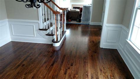 Red Oak Hardwood Flooring with Medium Brown Stain