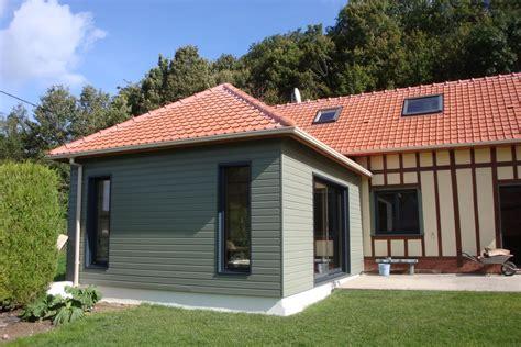 Extension Ossature Bois Sur Maison Normande > Djsl-bois