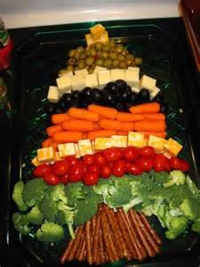 christmas tree veggie tray fun yummy pinterest