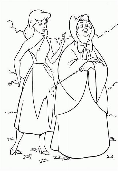 Cinderella Coloring Pages Printable Disney Colouring Princess