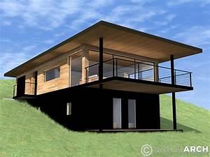 maison sur terrain en pente salon by adam dettrick With maison pilotis terrain pente