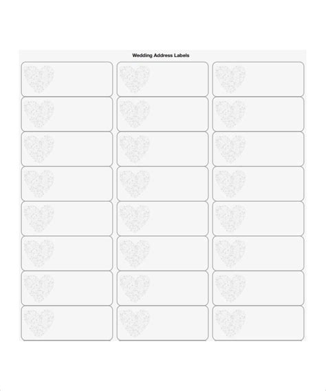 wedding address labels template 8 sle address label templates sle templates