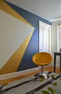 peinture geometrique moderne stunning abstrait moderne With peindre un mur en blanc
