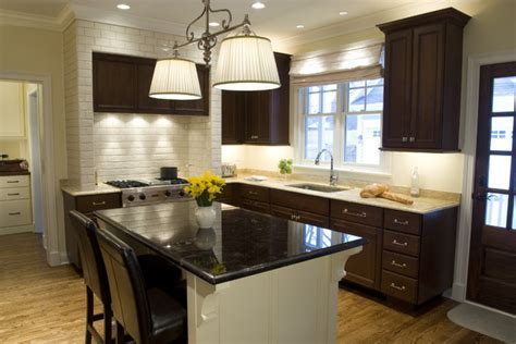 Dark Wood Kitchen Cabinets for Bright And Dark Kitchen