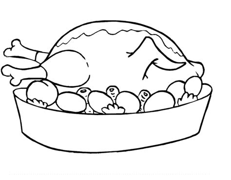 poulet cuisiné free printable food coloring pages for