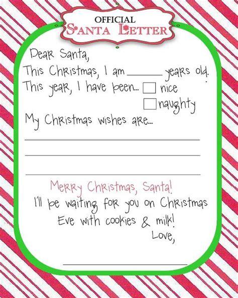 santa list template top 15 best blank letters to santa free printable templates
