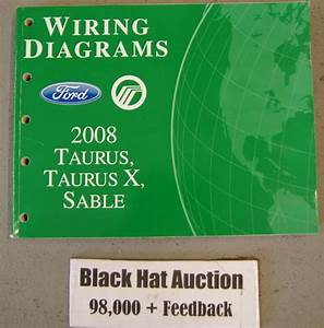 Sell 2008 Ford Taurus X  U0026 Sable Wiring Diagrams Manual Dealership Service Book Motorcycle In