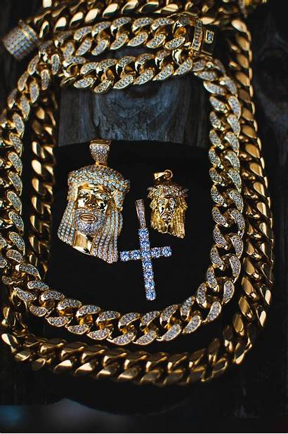 Iced Jewelry Chains Jesus Wallpapers Piece Cuban