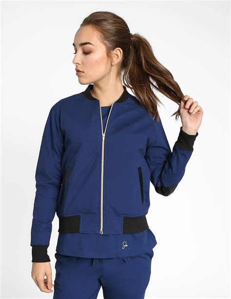 The Bomber Jacket in Estate Navy Blue - Women's Jackets by ...