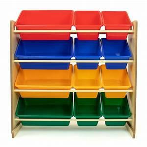 Tot, Tutors, Kids, Toy, Storage, Organizer, With, 12, Plastic, Bins, Multiple, Colors