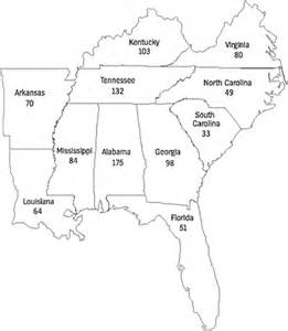 Southeast United States Capitals