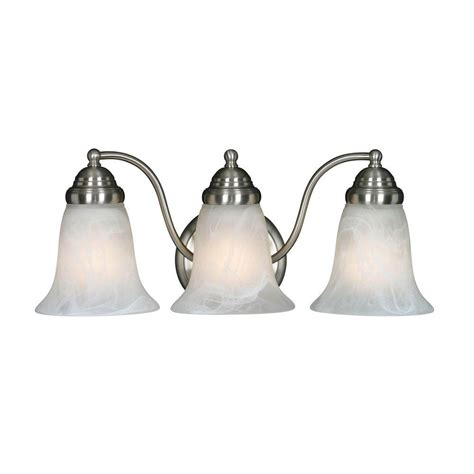 Bathroom Fixture Collections by Yvette Collection 3 Light Pewter Bath Fixture 2223mppwmbl
