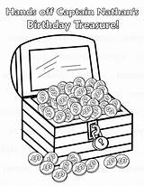 Treasure Chest Printable Pirate Coloring Pages Drawing Activity Colouring Open Birthday Personalized Childrens Pdf Etsy Favor Getdrawings Craft Favorites sketch template