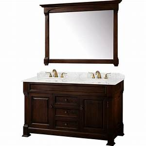 Wyndham collection andover 60 inch traditional double sink for Classic vanities bathrooms