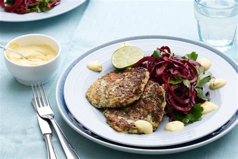 carb zucchini fritters  beet salad diet doctor