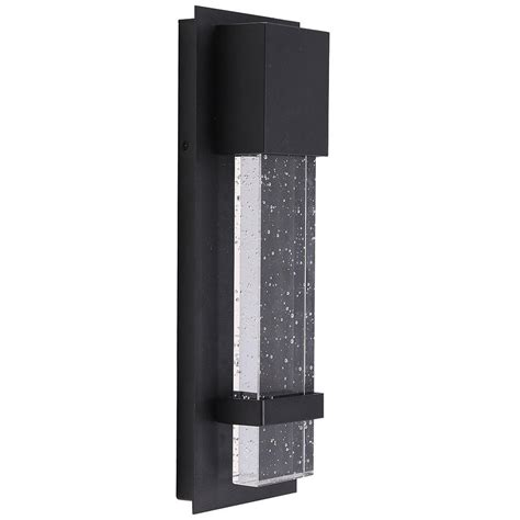 eglo venecia 1 light matte black outdoor integrated led wall mount sconce 202955a the home depot
