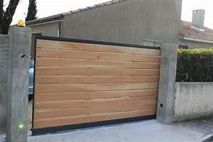 Portail Bois 4m : portail coulissant bois ~ Premium-room.com Idées de Décoration