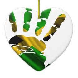 jamaica nice hand flag products christmas ornament