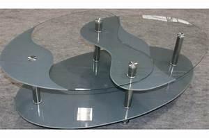 Table Basse Grise Pas Cher : table basse grise en verre germina table basse pas cher ~ Teatrodelosmanantiales.com Idées de Décoration