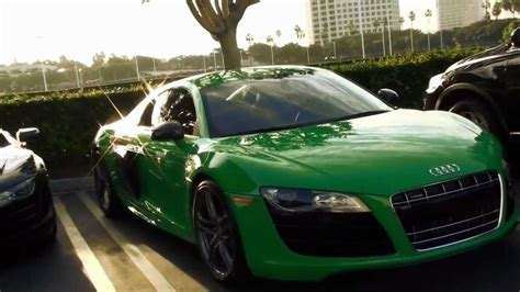 Audi R8 GREEN   Cars and Coffee Irvine Sports Car Event   YouTube