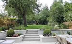 Sitzplatz Gestalten Garten : senkgarten mit sitzplatz gestalten 50 moderne ideen ~ Markanthonyermac.com Haus und Dekorationen