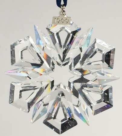 2007 swarovski crystal christmas snowflake star annual ornament swarovski 1999 snowflake annual ornament never displayed ornaments
