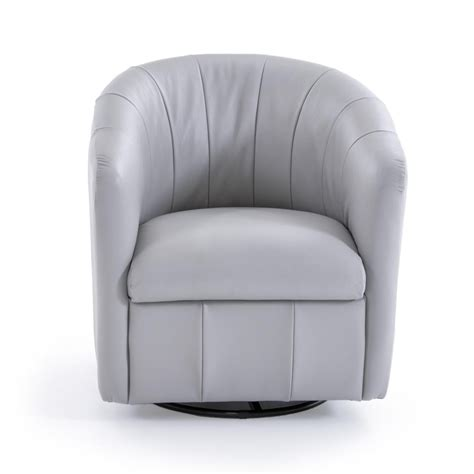 Natuzzi Editions Swivel Chair by Natuzzi Editions Natuzzi Contemporary Barrel Swivel Chair
