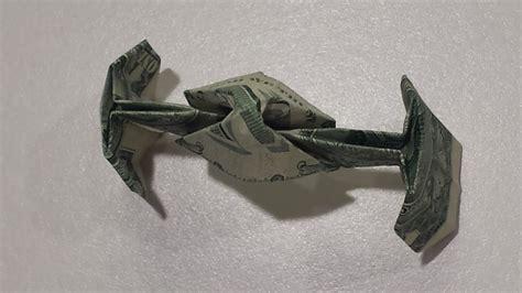star wars tie fighter tutorial   fold  dollar