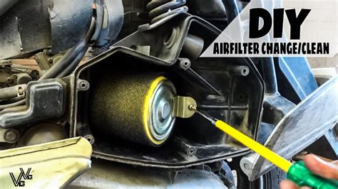 changeclean airfilter   scooter diy youtube