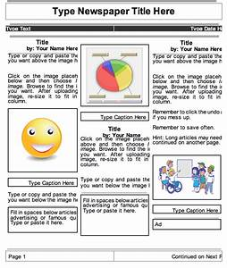Best photos of classroom newspaper template student for Google docs newspaper template student