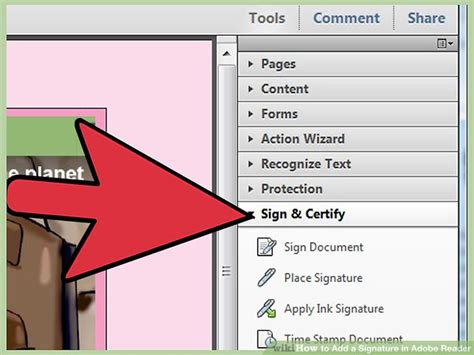 add  signature  adobe reader  steps