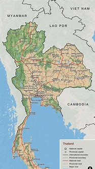 Large scale overview map of Thailand   Thailand   Asia ...