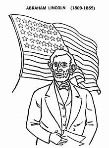 abe lincoln and us flag on presidents day coloring page With lincoln flower car