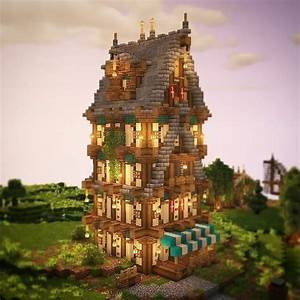 Godalions, Minecraft, On, Instagram, U201ca, Beautiful, Medieval, Tower, From, Hrzy, Builds, Ud83d, Udc99, Ud83d, Udc99, Beautiful