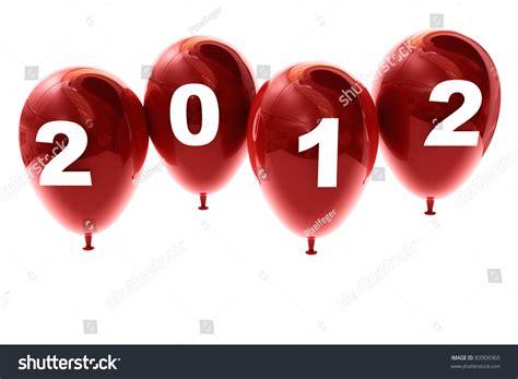 3d New Year 2012 Number On Ballon Shape Stock Photo 83909365 Shutterstock