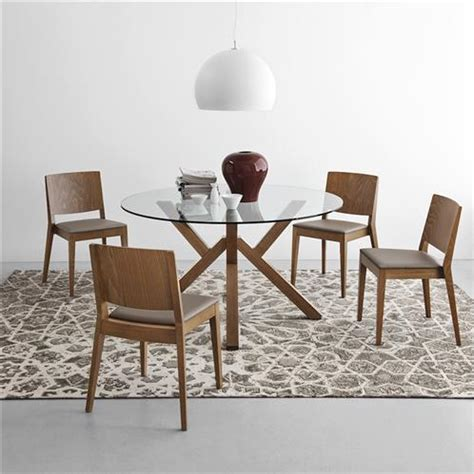 table de cuisine ronde en verre pied central table ronde en verre pied central noyer design sur cdc design