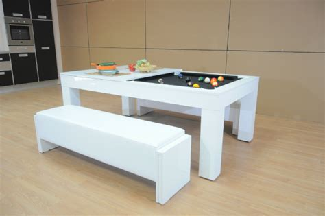white pool table dining table white gloss pool dining table gallery dining