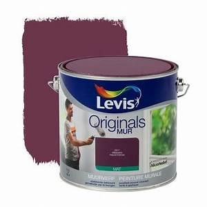 Peinture À L Eau Murale : peinture murale originals levis mat mauve intense 2 5 l peinture mur plafond ~ Melissatoandfro.com Idées de Décoration