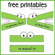 Greater Than Less Than Alligator Free Printables Greater Than  Home School Things Pinterest