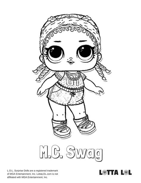 Kleurplaat Mc 2 by Mc Swag Glitter Lol Doll Coloring Page Lotta Lol