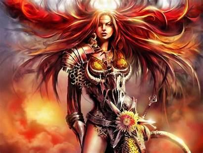 Fantasy Wallpapers Female Woman Warrior Fire Goddess