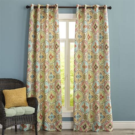 pier one kaleidoscope curtain pier 1 imports living room